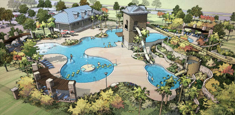 RESORT AT SIENNA SPRINGS: Sienna is opening its third water park in May, this one within walking distance of new neighborhoods in The Village of Anderson Springs. The facility offers a multitude of water features — slides, water cannons — nestled within a landscaped setting.