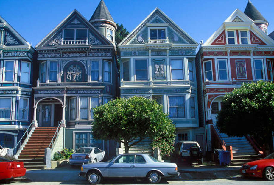 Haight-Ashbury's Victorian houses are part of the neighborhood's draw. Photo: ALAMY