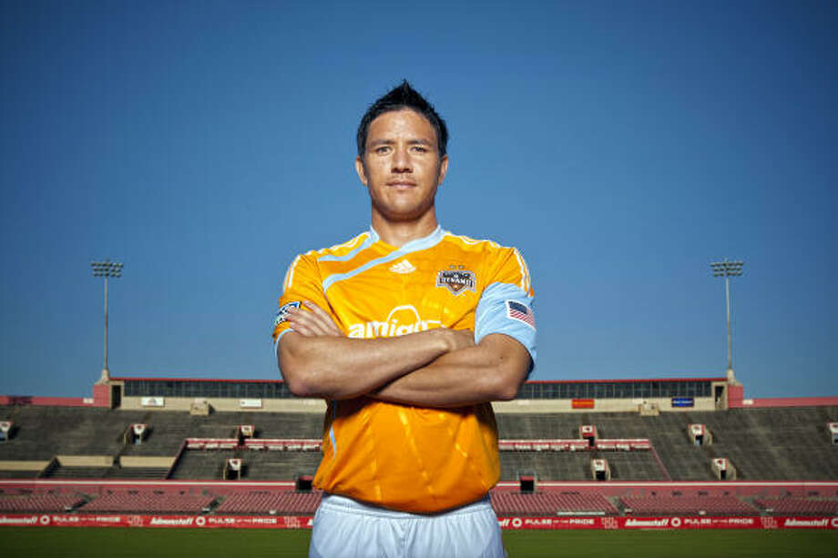 Dynamo forward Brian Ching will assist with Houston's bid when the FIFA Inspection Delegation visits. Photo: Chronicle File Photo