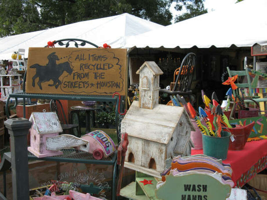 You never know what you'll find at Round Top antiques shows. Photo: Betty Luman, STAFF