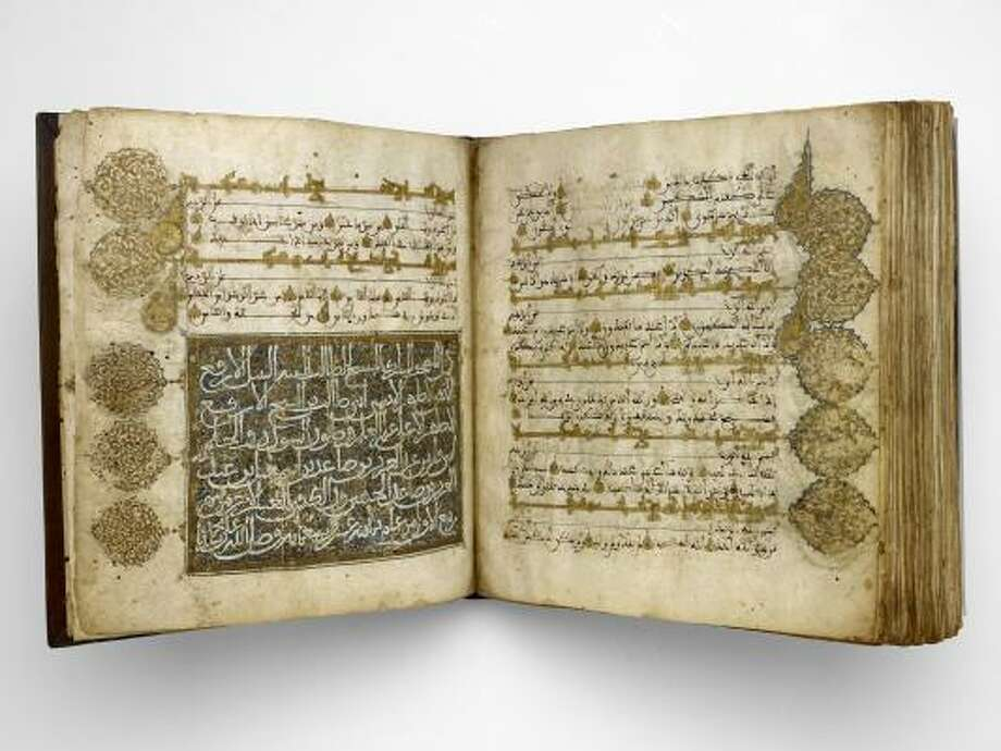 This 14th-century copy of the Quran can be found in the Museum of Fine Arts, Houston's Caroline Wiess Law Building. Photo: Courtesy Photo