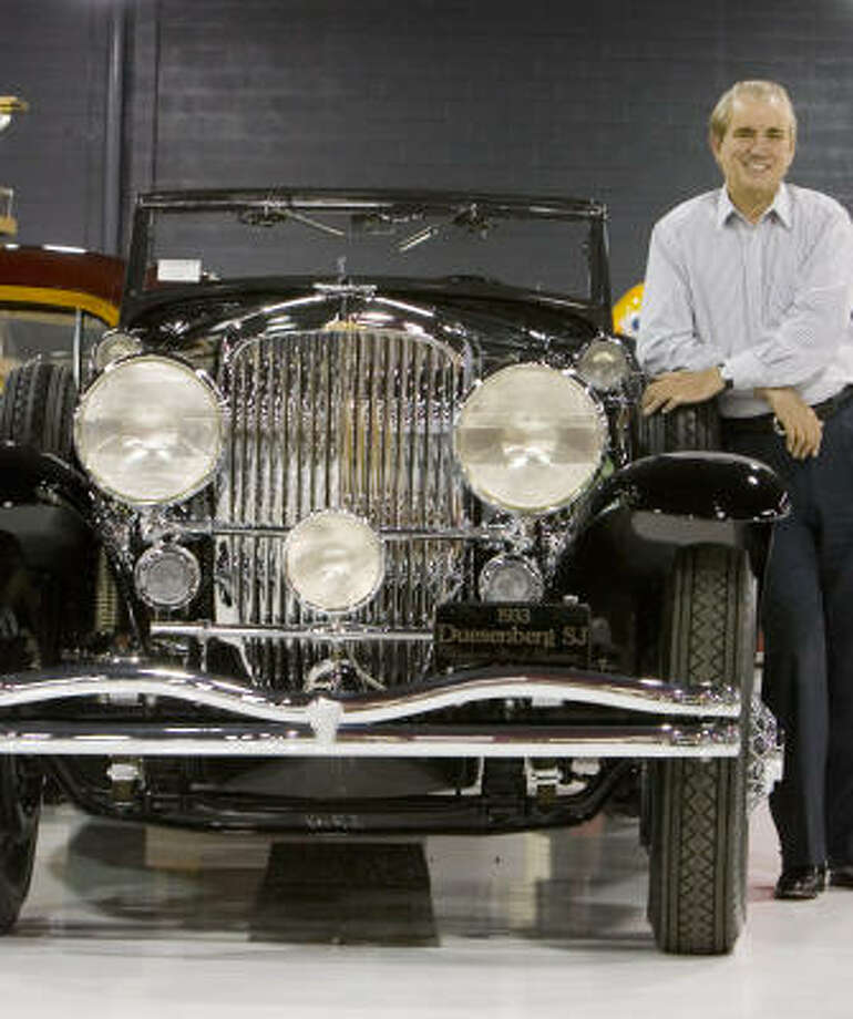 Attorney John O'Quinn, who died in an accident in October, loved his vast car collection, including this 1933 Duesenberg S J Riviera Sport Phaeton by Brunn. His dream of a museum for Houston isn't gone, but the vehicles are dwindling. Photo: Steve Campbell, Chronicle File