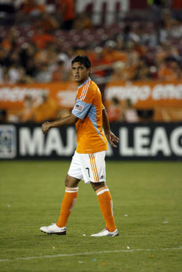 Forward Luis Angel Landin will be counted on to provide support for Brian Ching and scoring when the Dynamo go on the attack this season. Photo: Johnny Hanson, Chronicle