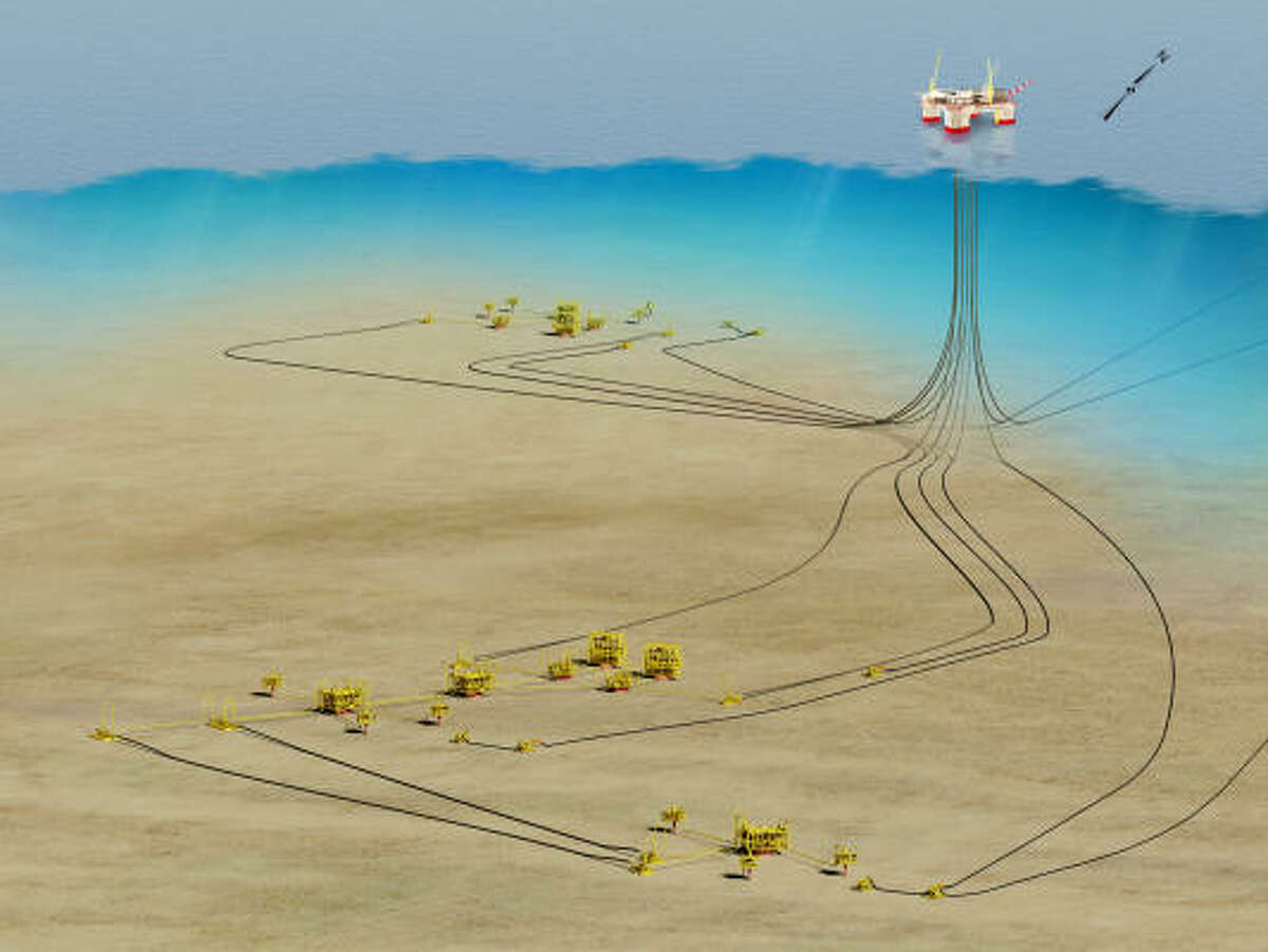 Chevron's planned $7.5 billion project to develop deep-water reservoirs in the Gulf's Jack and St. Malo fields will include three undersea centers feeding a single production hub.