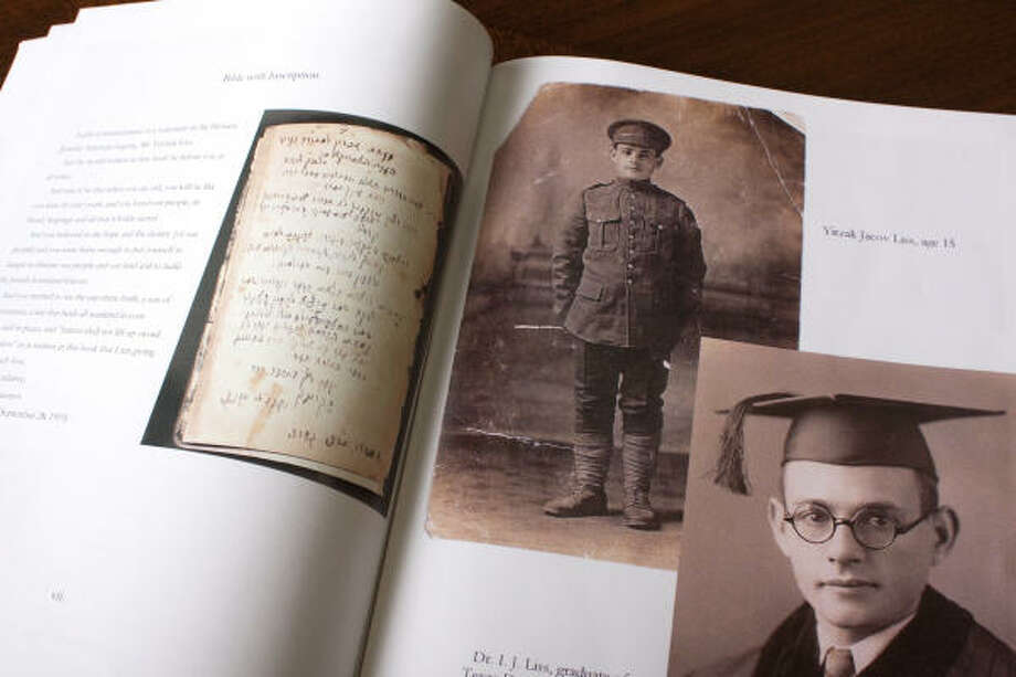 Photographs of Jack Liss in uniform as a member of the Jewish Legion and later as a college student are included in the translation of his diary. Photo: Eric Kayne, For The Chronicle