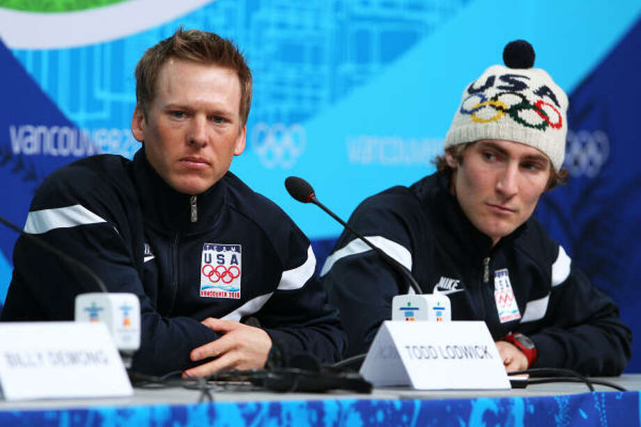 Todd Lodwick, left, and Taylor Fletcher will try to bring gold to the United States in nordic combined. Photo: Cameron Spencer, Getty Images