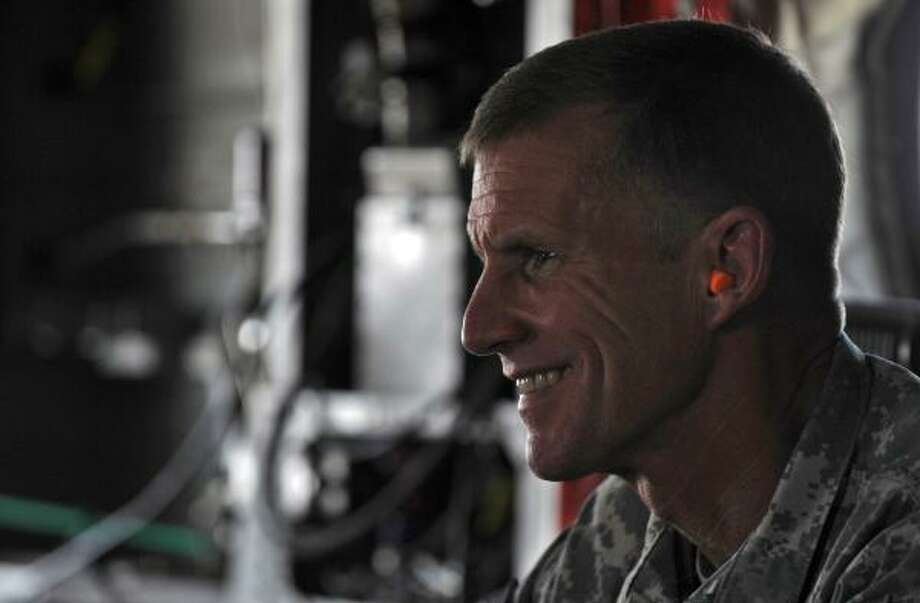 "Gen.l Stanley McChrystal is the subject of a profile called ""The Runaway General."" Photo: MASSOUD HOSSAINI, AP"