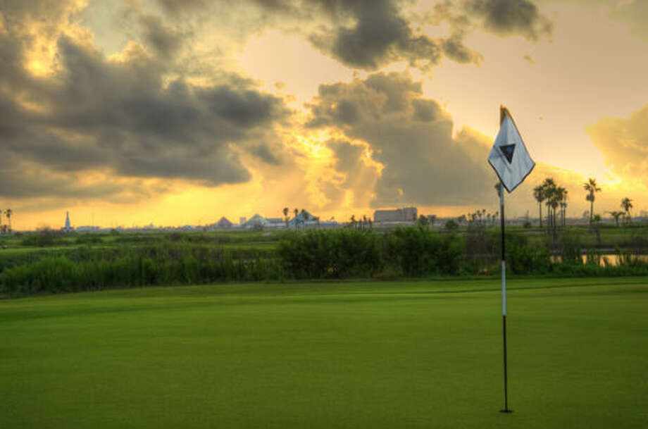 After Hurricane Ike, most of the bunkers had to be redone and some more work needed to be done on one of the greens. Photo: Moody Gardens Golf Course