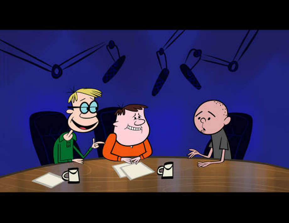 """The Ricky Gervais Show"" is an animated comedy series featuring the voices of Ricky Gervais, his longtime collaborator Stephen Merchant and colleague and friend Karl Pilkington. Photo: HBO"
