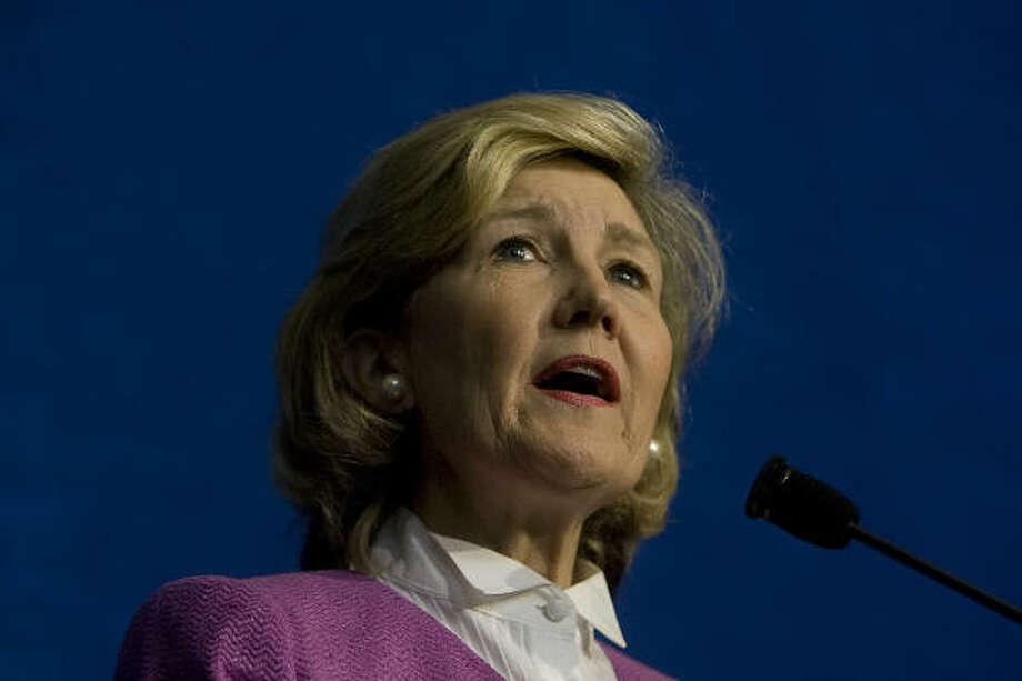 Sen. Kay Bailey Hutchison has channeled millions to the Houston area. Photo: Johnny Hanson, Chronicle