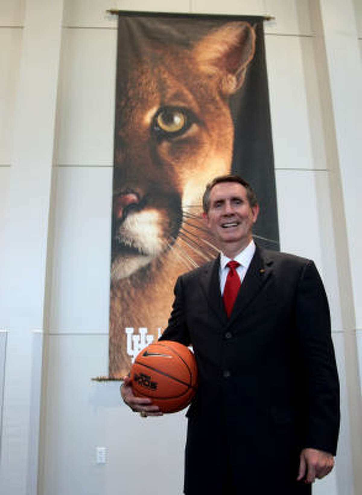 Newly-appointed UH men's basketball coach James Dickey has signed 25 future NBA players.