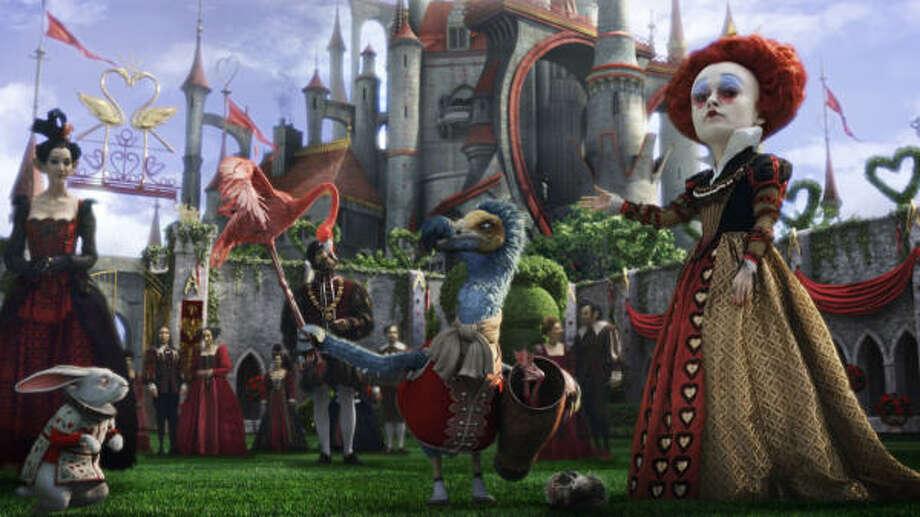 Helena Bonham Carter is the Red Queen in Alice in Wonderland. Photo: DISNEY | ASSOCIATED PRESS FILE