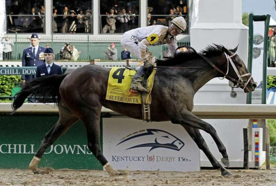 Calvin Borel rides Super Saver to victory during the 136th Kentucky Derby at Churchill Downs. Photo: Morry Gash, AP