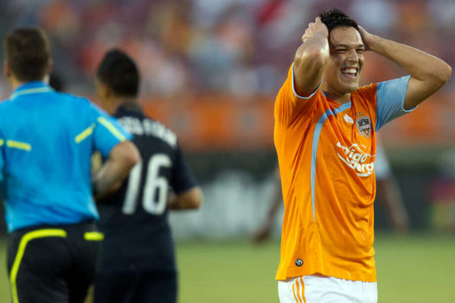 Luis Angel Landin 's one-year stint with the Dynamo came to an end on Tuesday. Photo: Smiley N. Pool, Chronicle