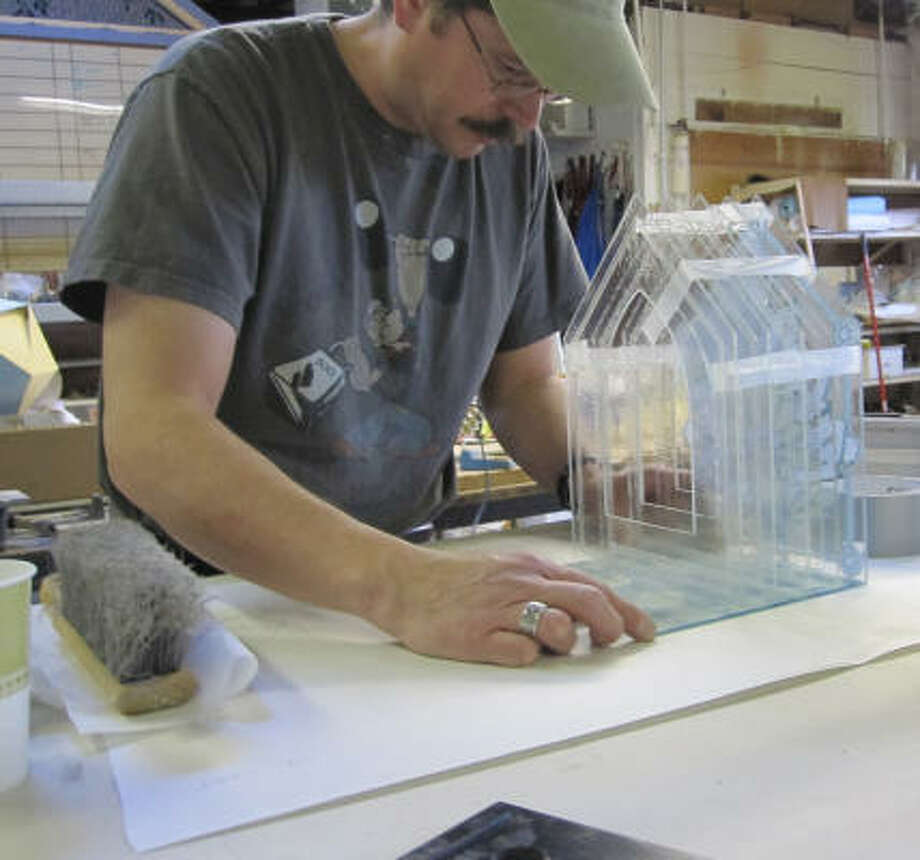 Mormon sculptor Andrew Kosorok is creating 99 glass sculptures to represent Islam's 99 names for God. Having gained an interest in Islam after 9/11, Kosorok found many parallels between his Mormon faith and Islam. Photo: Courtesy Andrew Kosorok, Religion News Service