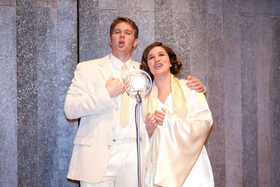Gabriel Preisser sings the title role and Ashly Evans co-stars as Sister Sharon Falconer in the Moores Opera Center's area premiere of Elmer Gantry, playing Friday-Monday. Photo: Courtesy Photo