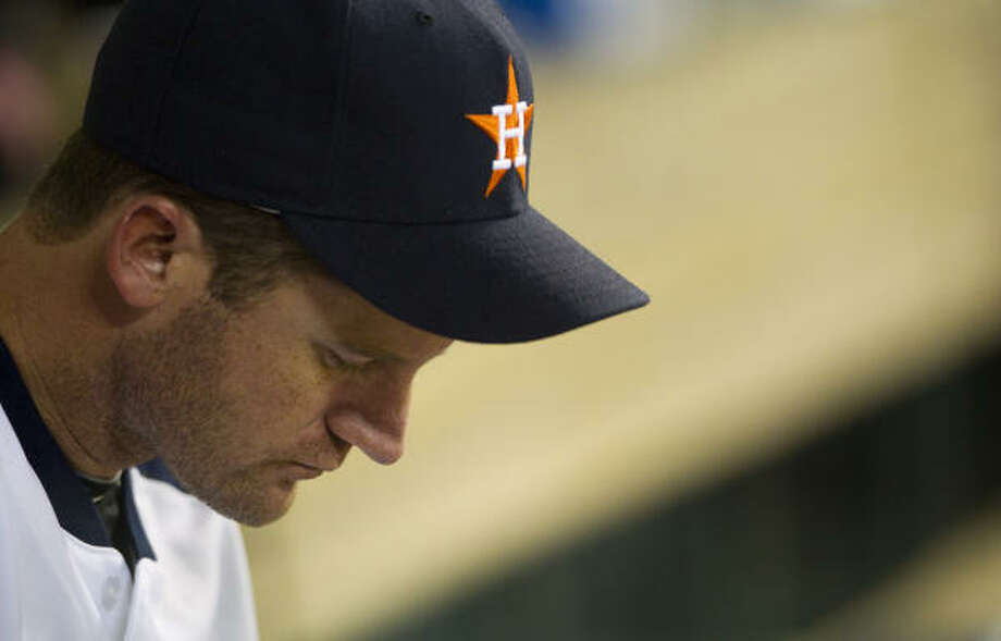 Roy Oswalt's chances of breaking the Astros' win record took a hit after a rough outing against the Reds. Photo: Brett Coomer, Chronicle