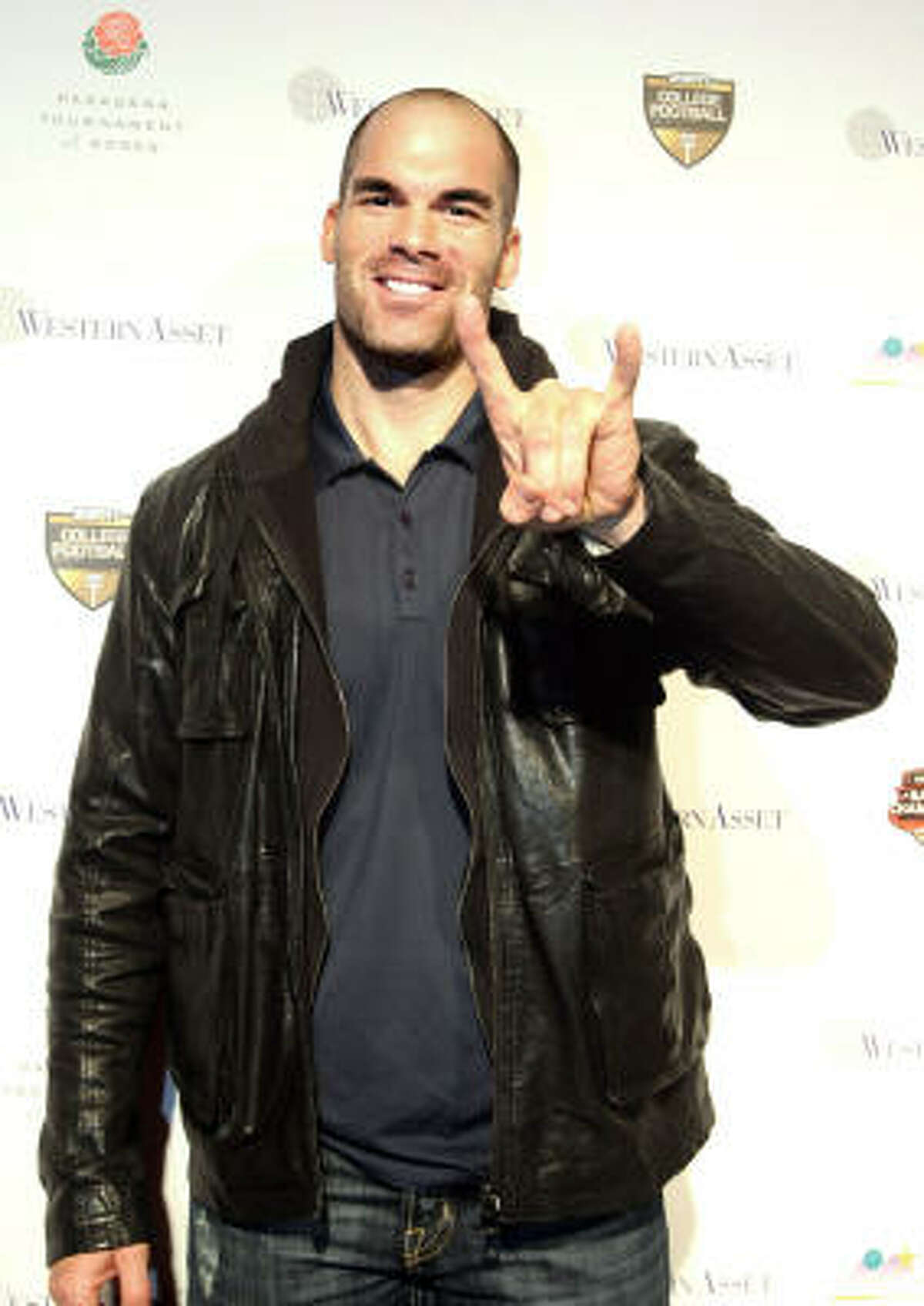 Actor Brandon Molale at the 2010 Official BCS National Championship Party in Pasadena.