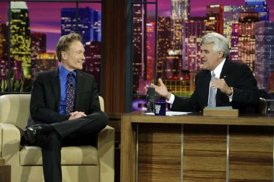 Only seven months after handing off The Tonight Show to Conan O'Brien, right, Jay Leno, left, is returning to the iconic late-night talk show. If he's successful, Leno won't be the first television show to regain its old form. Photo: Paul Drinkwater, AP