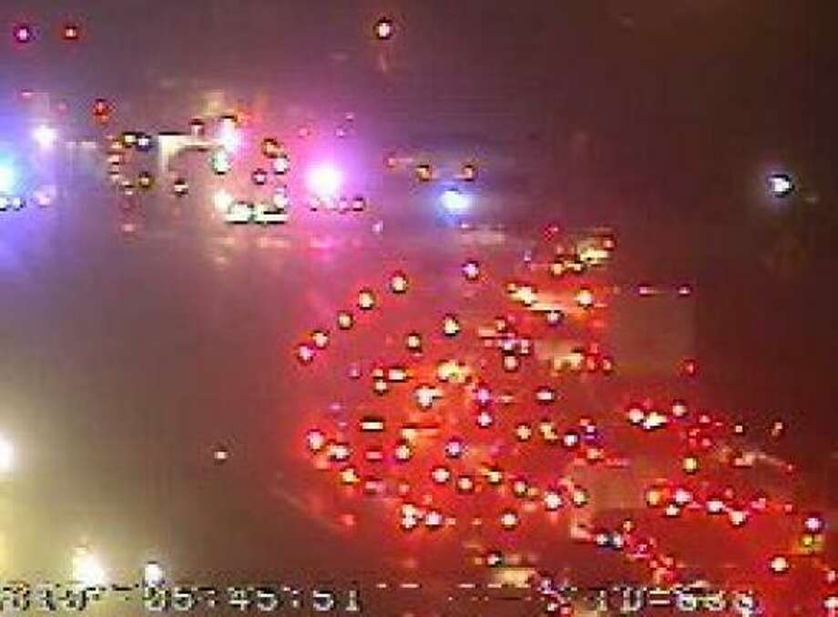 A major wreck snarled the South Loop near South Wayside this morning. Photo: Houston TranStar