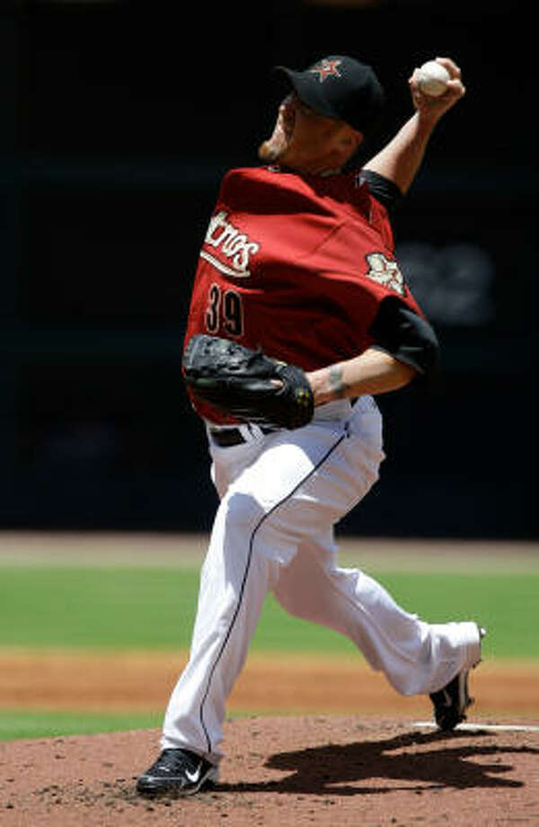 Brett Myers, like the Astros as a whole, has shaken off a bad start in the last week and a half. Photo: Melissa Phillip, Chronicle
