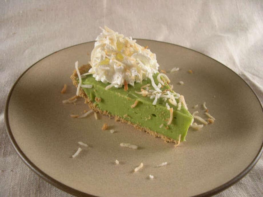 Avocado-Coconut Pie will liven up Cinco de Mayo festivities. Photo: TheAmazingAvocado.com