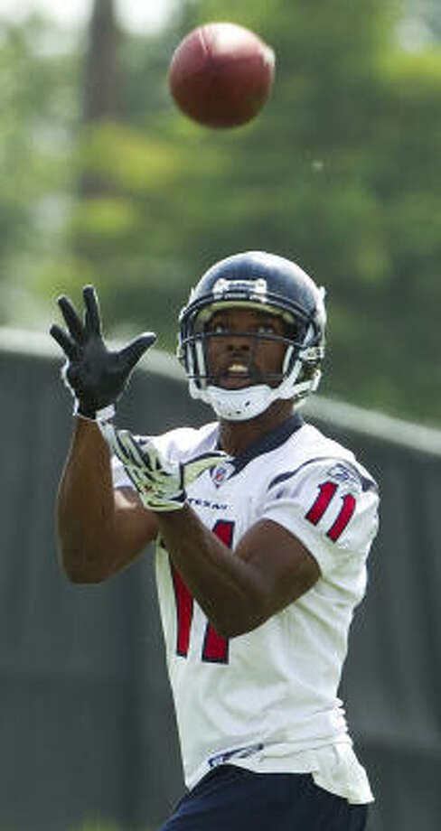 In training camp, nine-year veteran Andre' Davis has been playing for his job. Photo: Brett Coomer, Chronicle