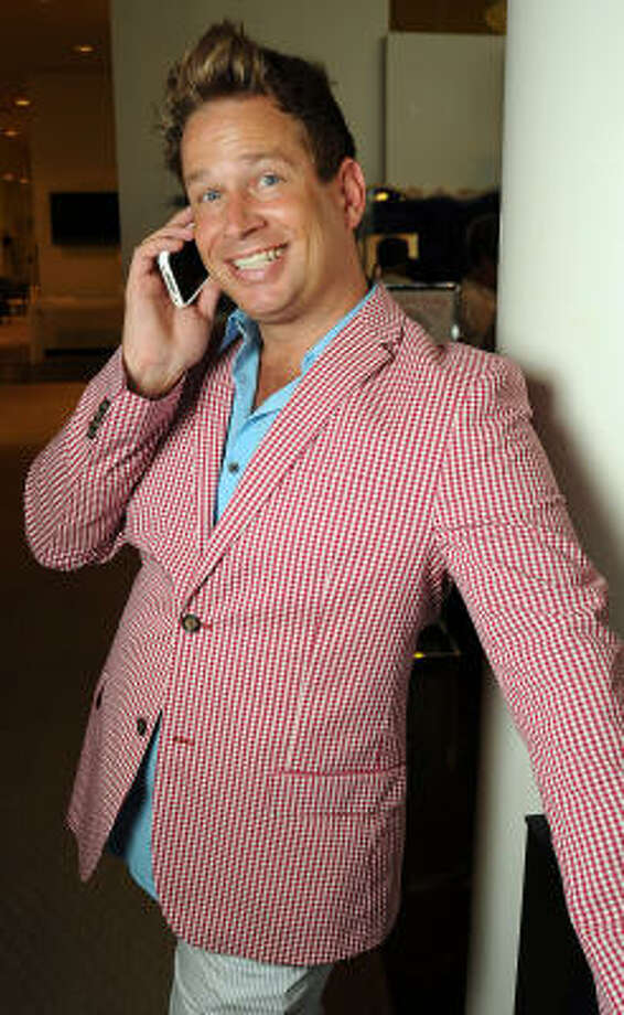 Jeff Shell sported a red gingham blazer at the Sizzling Summer Soiree. Photo: Dave Rossman, For The Chronicle