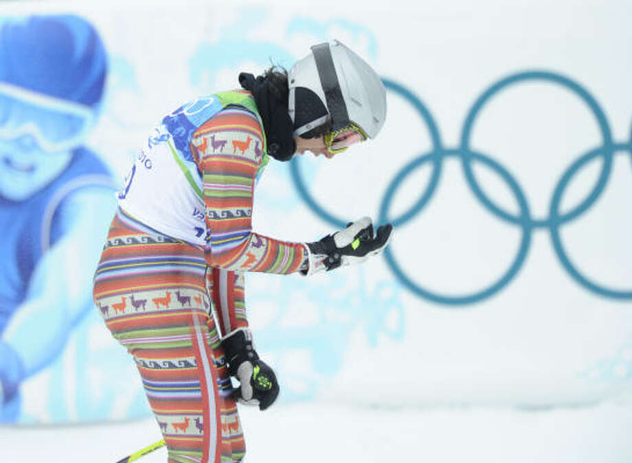 Peru's Manfred Oettl Reyes skied in the giant slalom at age 16. Photo: MICHAEL KAPPELER, AFP/Getty Images