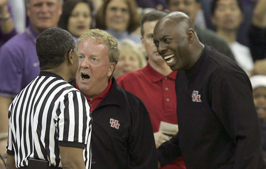 Melvin Haralson, right, is in his 10th season at UH. Photo: KEVIN P. CASEY, AP