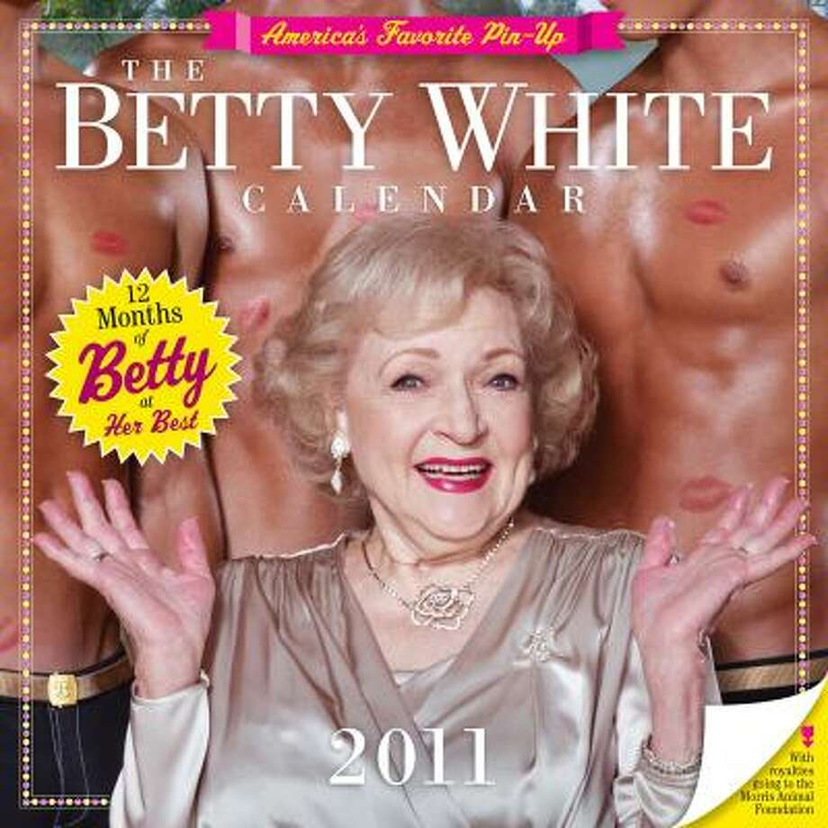Actress Betty White is shown on the cover of The Betty White Calender 2011, which will be available  in September. Photo: Workman Publishing