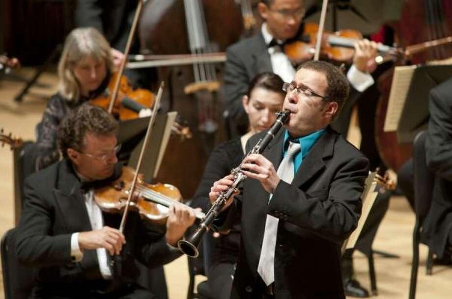 Clarinetist Stanislav Golovin, winner of the 2010 Houston Symphony Ima Hogg Competition, rehearses.