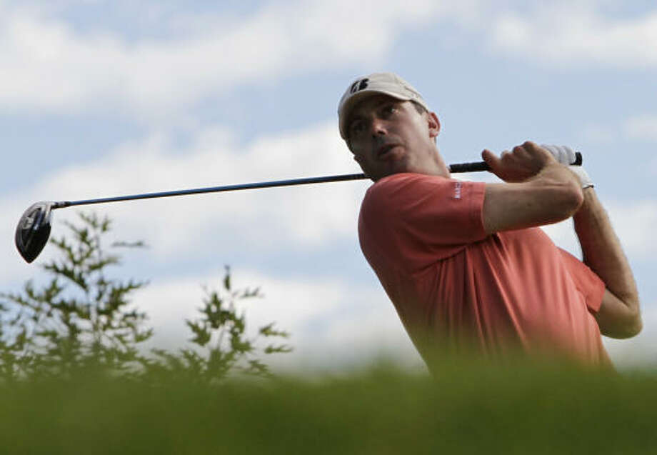 Matt Kuchar watches after his tee shot on the 16th hole during the second round on Friday. Photo: Nam Y. Huh, AP