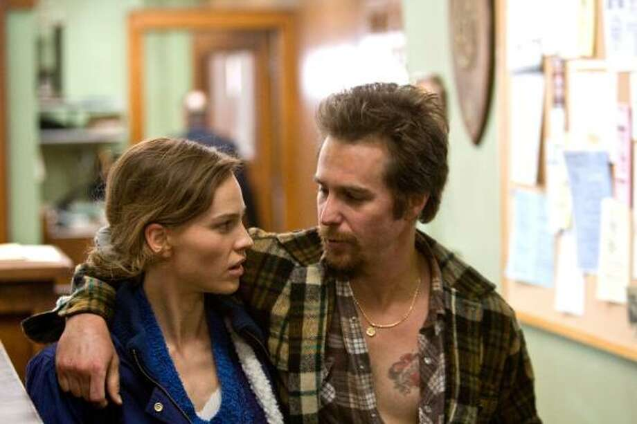Hilary Swank stars as Betty Anne Waters opposite Sam Rockwell as wrongly convicted convict Kenneth Waters in Conviction. Photo: MCT