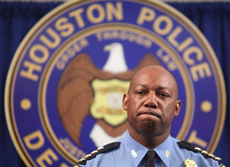 HPD Chief Charles McClelland said Thursday he understands the frustration over the misdemeanor counts against the four officers, but that he could take no tougher action. Photo: Mayra Beltran, Chronicle