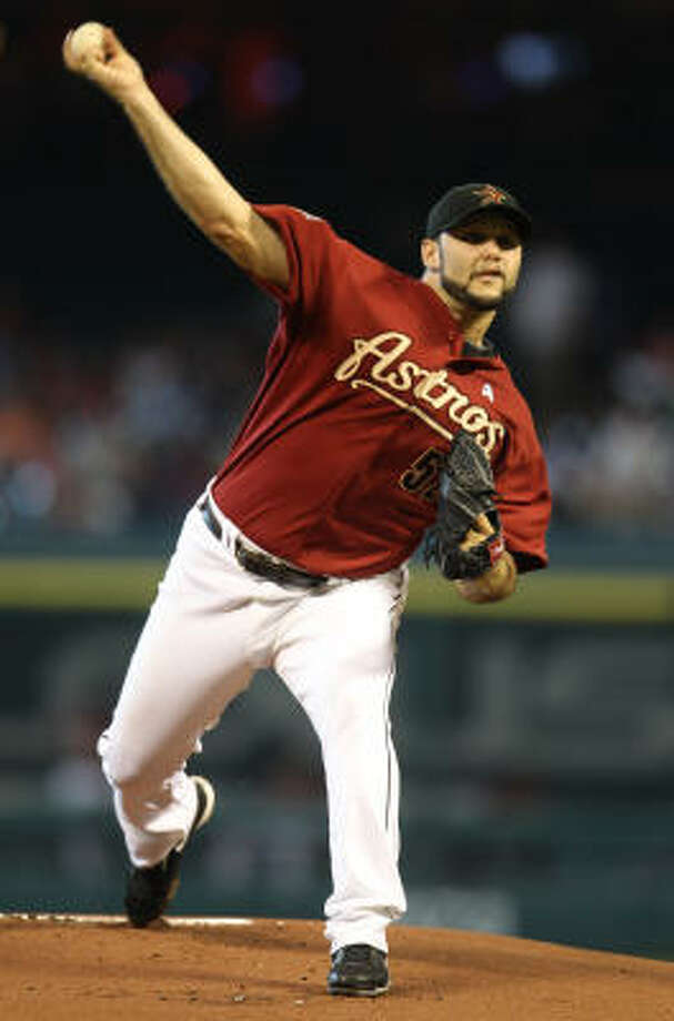 Felipe Paulino hasn't pitched since a June 20 no-decision against the Texas Rangers. Photo: Karen Warren, Chronicle