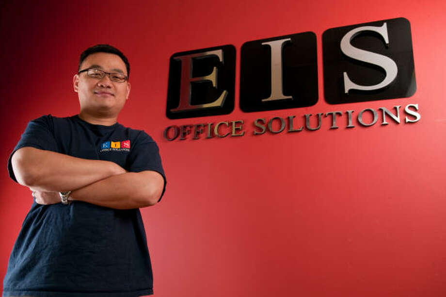 EIS Office Solutions owner Simon Lee built his charitable idea into his company's business plan. Photo: John  Jiles:, Houston Chronicle