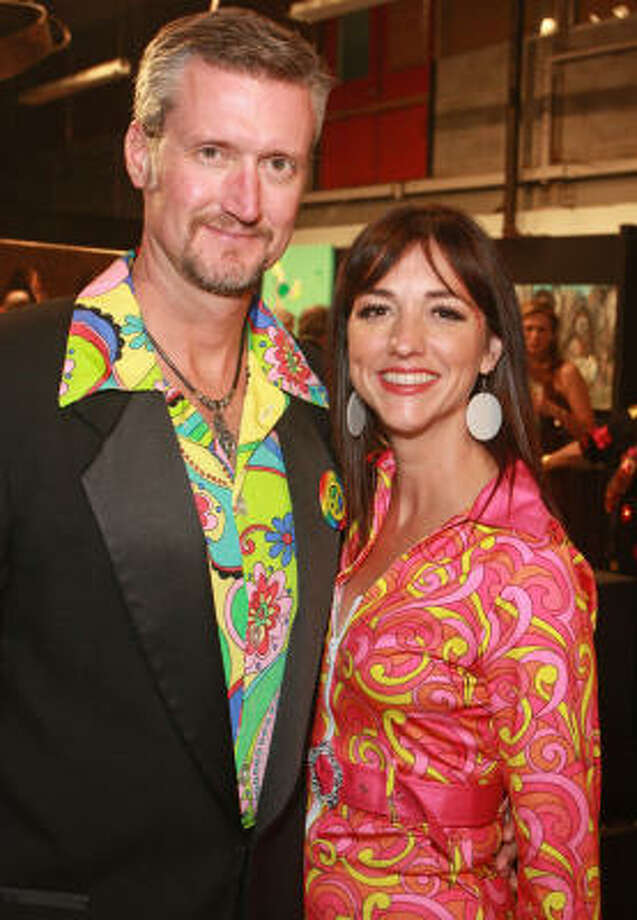 Philip Robert Brinson and Franny Koelsch at Kaleidoscope: The 2010 Orange Show Gala. Photo: Gary  Fountain