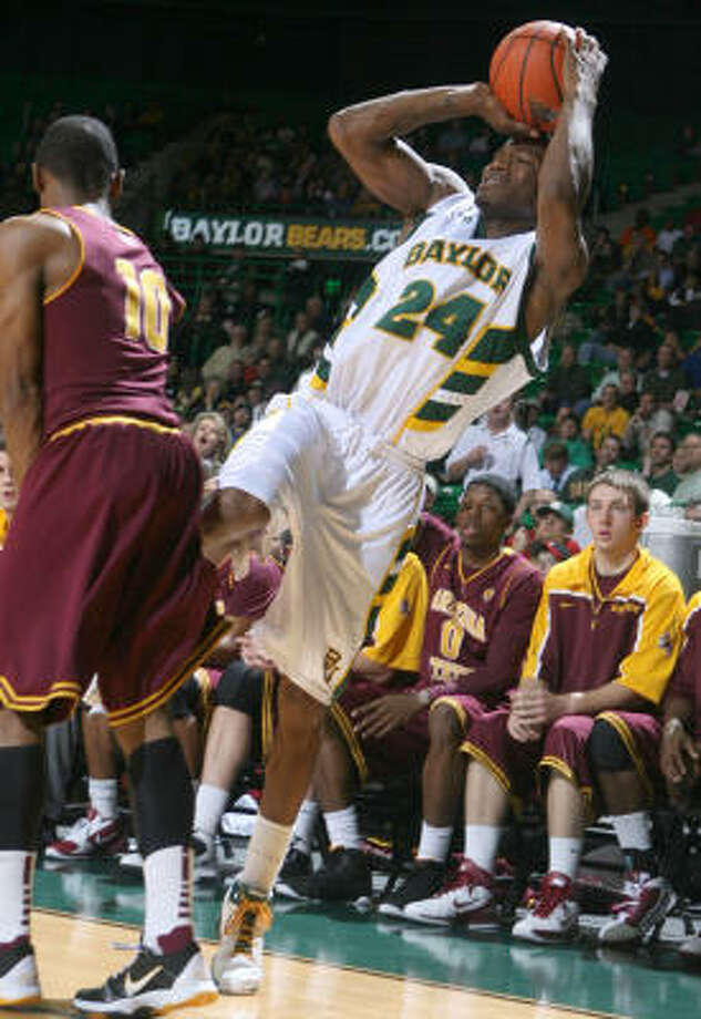 Baylor's LaceDarius Dunn hit six 3-pointers in Thursday night's victory. Photo: Duane A. Laverty, AP