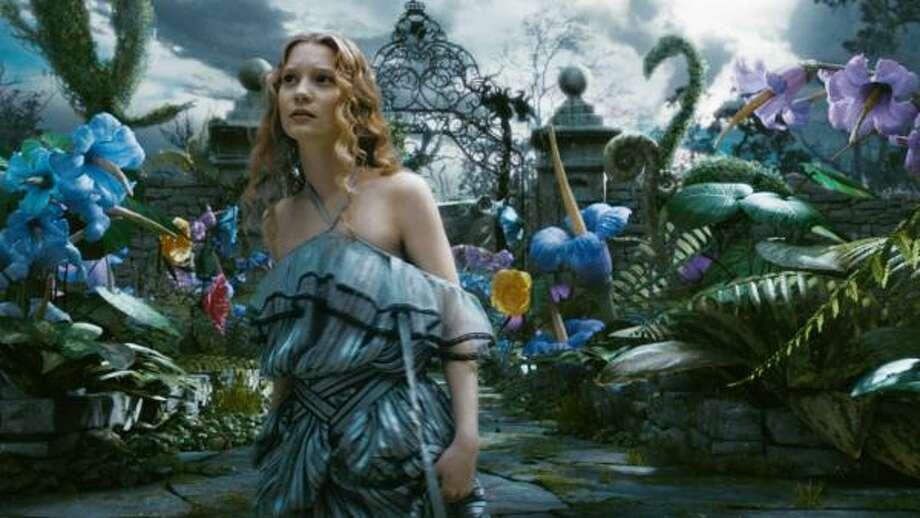 Australian actress Mia Wasikowska stars as Alice in this retelling by Tim Burton. Photo: Walt Disney Pictures