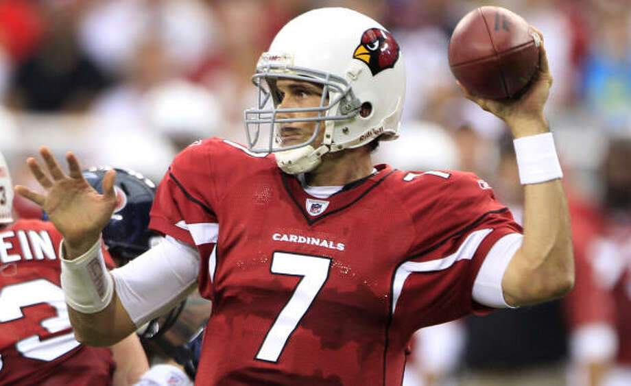 Matt Leinart comes to the Texans as the third quarterback behind Matt Schaub and Dan Orlovsky. Photo: Brett Coomer, Chronicle