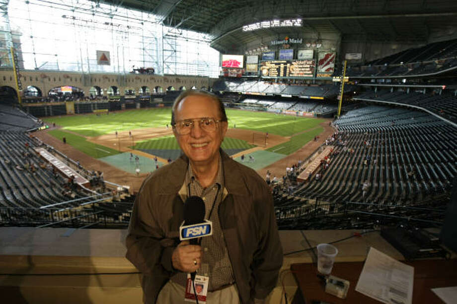 Rene Cardenas was the Astros' Spanish language broadcast director and announcer from the franchise's birth as the Colt .45s in 1962 until 1977. Here he is seen at an Astros-Nats game at Minute Maid Park on May 6, 2008. Photo: Karen Warren, Chronicle