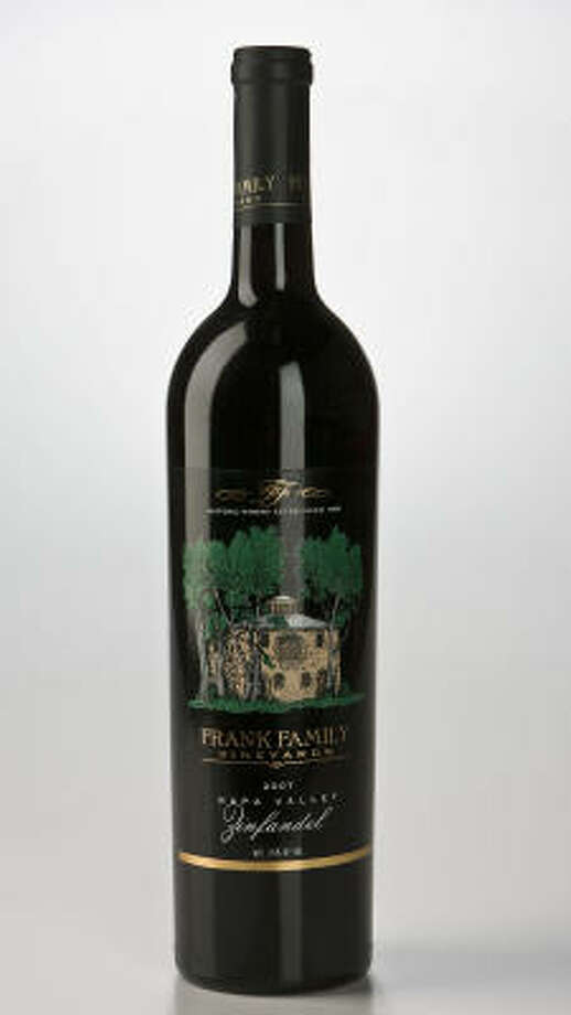 A bottle of Frank Family Vineyards 2007 Napa Valley Zinfandel Photo: James Nielsen, Chronicle