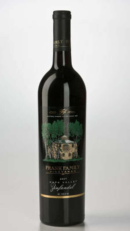 A bottle of Frank Family Vineyards 2007 Napa Valley Zinfandel Photo: James Nielsen, Chronicle