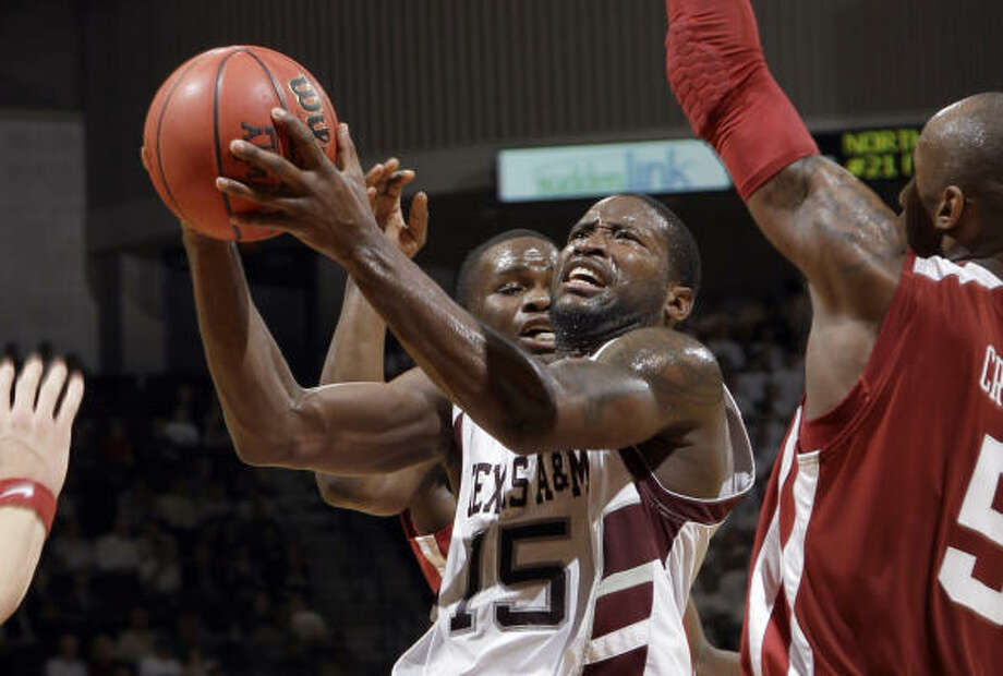 Texas A&M's Donald Sloan scored 28 points in the win over Texas Tech at Reed Arena. Photo: AP File Photo