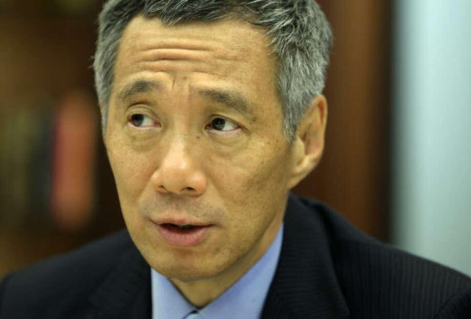 Singapore's prime minister, Lee Hsien Loong. Photo: Karen Warren :, Chronicle