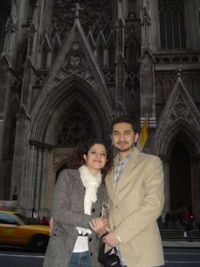 An undated photo from the social networking site Orkut.com shows Faisal Shahzad and his wife Huma Mian. Photo: AP