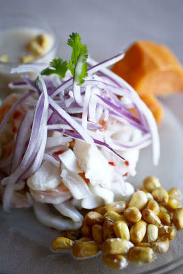 The Ceviche Mixto Photo: Michael Paulsen :, Chronicle