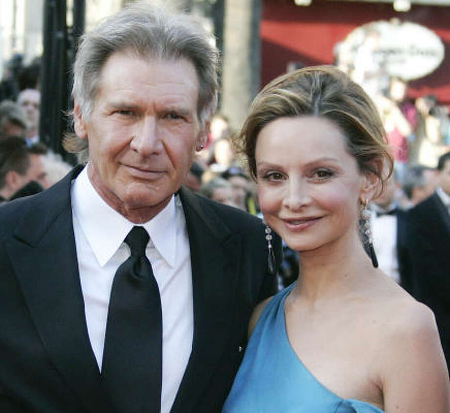 Harrison Ford and Calista Flockhart married in June in Santa Fe after about a decade of dating. Harrison wore a pair of Wrangler jeans. Photo: Francois Mori, ASSOCIATED PRESS