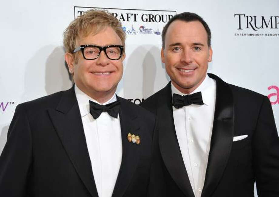 Elton JohnJohn, 62, and his husband David Furnish, 48, announced their son, Zachary, was born Christmas Day. The couple used a surrogate mother. Photo: Evan Agostini, AP